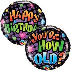 Balon Folie 45 cm How Old Are You?, Qualatex 16785