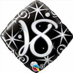 """18"""" Diamond Foil 18 Elegant Sparkles & Swirls, Qualatex 29993"""