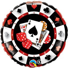 "18"" Round Foil Casino, Qualatex 43389"