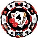 """18"""" Round Foil Casino, Qualatex 43389"""