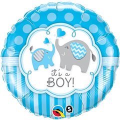 "Balon Folie 18"" It's a Boy Elephants, Qualatex 45109"