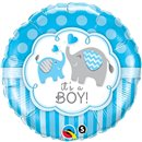 "Balon Folie 18"" It's a Boy Elephants, Qualatex 45109"