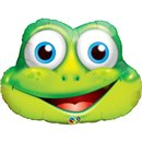 "32"" Shape Foil Funny Frog, Qualatex 16124"