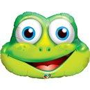 """32"""" Shape Foil Funny Frog, Qualatex 16124"""