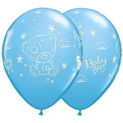 Baloane Latex 28 cm Bleu Me to You Baby Boy, Qualatex  45370, Set 25 buc