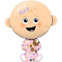 Balon folie figurina bebelus fata - 96cm, Qualatex 43362