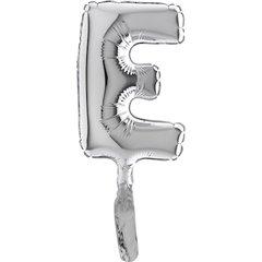 Silver Letter E Micro Foil Balloon - 18cm, Radar GB07249S