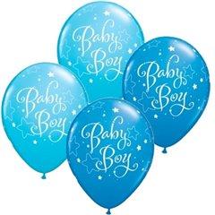 Baby Boy Latex Balloons 11 Inch, Qualatex 43001
