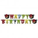 Banner decorativ pentru petrecere - 1.8 m, Angry Birds Happy Birthday, Amscan 552367, 1 buc