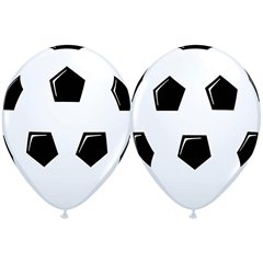 "Baloane latex 11""/28cm inscriptionate Minge de fotbal, Qualatex 45388, Set 25 buc"