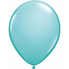 "Caribbean Blue Latex Balloons - 11""/28cm, Qualatex 50322"