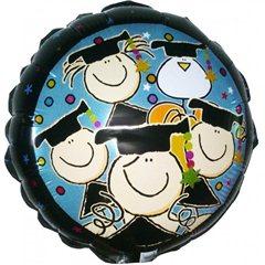 "Fulanitos Graduations Air Filled Foil Balloon - 9""/23cm, Qualatex 65410"