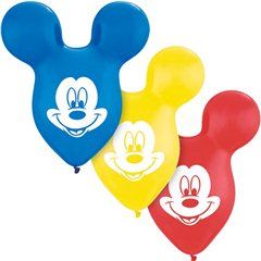 "Mickey Mouse Ears Latex Balloons- 15""/38cm, Qualatex 73592"
