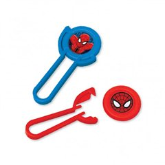 Spider-Man Disc Shooters, Amscan RM393378-55, Pack of 12pieces