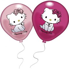 "10"" Printed Latex Balloons, Charmmy Kitty, Amscan 48376, Pack of 8 Pieces"