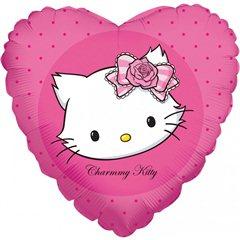 Balon folie inima Charmmy Kitty - 45cm, Amscan 665902