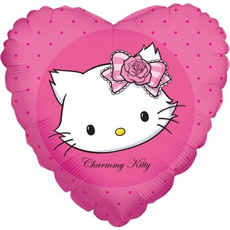 Balon Folie 45 cm Inima Charmmy Kitty, 665902