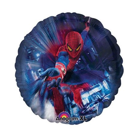 Balon Mini Folie Spiderman 23cm + bat si rozeta, Amscan A24841