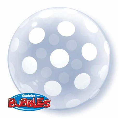 Balon Bubbles Polka Dots, Qualatex 16872