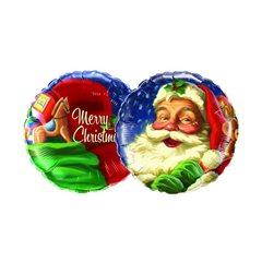 "18"" Jolly Santa Microfoil Balloon, Qualatex 61002"