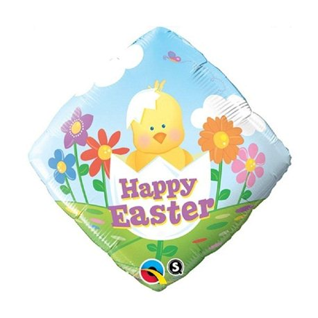 Balon Folie 45 cm Happy Easter Puisor, Qualatex 35093