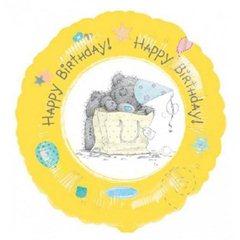 "Teddy Happy Birthday Foil Balloon - 18""/45cm, Amscan 20525"
