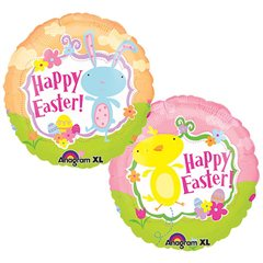Balon folie 45cm Happy Easter, Amscan 15288