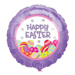 Balon folie 45cm Happy Easter Oua, Amscan 10718