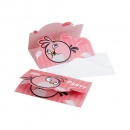 Angry Birds Pink Invitation Cards, Amscan RM552550, Pack of 6 Pieces
