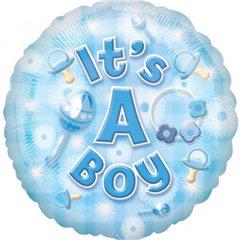 """Balon Folie 45 cm """"It's a boy"""", Amscan 2591701"""