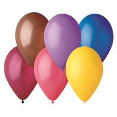 Assorted Latex Balloons , 6 inch (16 cm), Gemar A60.ASS, Pack Of 100 pieces