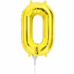 Balon folie cifra 0 auriu - 41cm, Northstar Balloons 00557