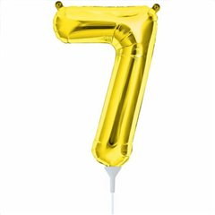 Balon folie cifra 7 auriu - 41cm, Northstar Balloons 00564