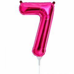 "16""/41 cm Magenta 7 Shaped Foil Balloon, Northstar Balloons 00449"