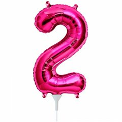 "16""/41 cm Magenta 2 Shaped Foil Balloon, Northstar Balloons 00444"