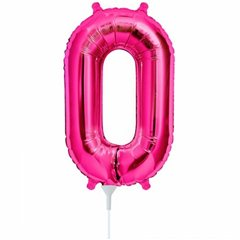 "16""/41 cm Magenta 0 Shaped Foil Balloon, Northstar Balloons 00442"