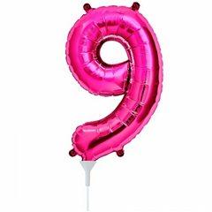 Balon folie cifra 9 magenta - 41cm, Northstar Balloons 00451