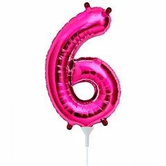 Balon folie cifra 6 magenta - 41cm, Northstar Balloons 00448
