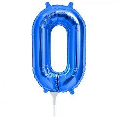 "Number 0 Blue Foil Balloon - 16""/41cm, NorthStar Balloons 00452"