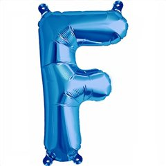 "16""/41 cm Blue Letter F Shaped Foil Balloon, Northstar Balloons 00536"