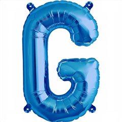 "16""/41 cm Blue Letter G Shaped Foil Balloon, Qualatex 59394"