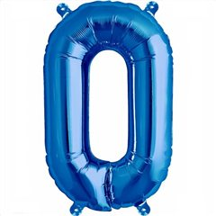 "16""/41 cm Blue Letter O Shaped Foil Balloon, Qualatex 59410"