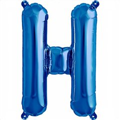 "16""/41 cm Blue Letter H Shaped Foil Balloon, Northstar Balloons 00537"