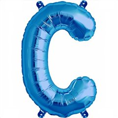 Balon folie litera C albastru - 41cm, Northstar Balloons 00533