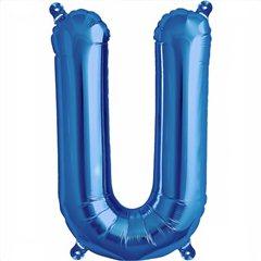 Balon folie litera U albastru - 41cm, Northstar Balloons 00551
