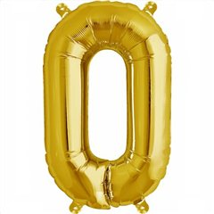 "16""/41 cm Gold Letter O Shaped Foil Balloon, Northstar Balloons 00581"