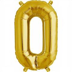 Balon folie litera O auriu - 41cm, Northstar Balloons 00581