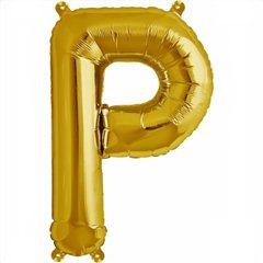Balon folie litera P auriu - 41cm, Northstar Balloons 00582