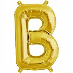 "16""/41 cm Gold Letter B Shaped Foil Balloon, Northstar Balloons 00568"