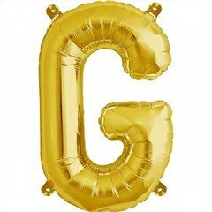 Balon folie litera G auriu - 41cm, Northstar Balloons 00573